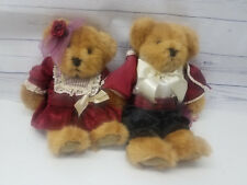 """Russ Berrie Bears From The Past Romeo and Juliet 10"""" Stuffed Teddy Bears Plush"""