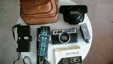 Yashica Electro 35 (1966+), 35mm Rangefinder Film Camera,aux tele+wide+flash+sky