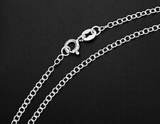 925 Sterling Silver  Cable Chain Necklace 2x1.5  mm. 18 inches
