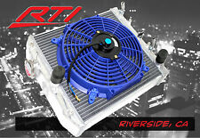 EK EG Honda Civic 92-00 Automatic Transmission Aluminum 2 Row Radiator +BLUE Fan