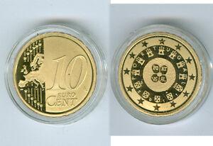 Portugal 10 Cent Pp / Proof (Choisissez Entre Les Millésimes : 2005 - 2019)