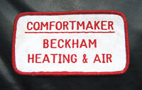 "BECKHAM HEATING EMBROIDERED SEW ON PATCH AIR COMFORT MAKER 4 1/2"" x 2 1/2"""
