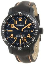Fortis Men's 647.28.1 B-42 Black Mars 500 Titanium Automatic  Leather Watch