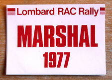 Lombard RAC Rally MARESCIALLO 1977 Motorsport Adesivo / Decalcomania
