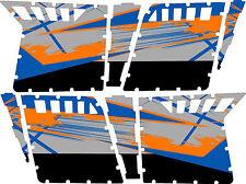 GRAPHICS DECAL KIT PRO ARMOR 4 DOOR POLARIS RZR 800 Blue Fire Orange W / Cutouts