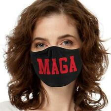 Maga Black Face Mask Reusable Washable Unisex Face Cover Cloth Usa Seller