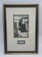 Vintage Antique VIRGINIA WOOLF English Writer Photo Signature Matted Framed R2