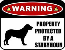Warning Property Protected by a Stabyhoun (Silhouette) Laminated Dog Sign
