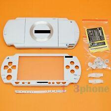 Full housing UMD cover+outer lens+button set+screw Set pour Sony PSP 1000 blanc