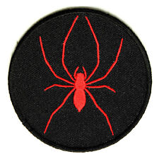 Embroidered Red Spider Sew or Iron on Patch Biker Patch