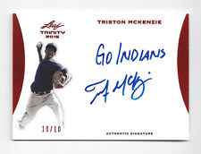 Triston McKenzie 2015 Leaf Trinity Inscription /10 RARE Auto Indians 10/10 1/1