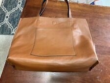 PU Leather Casual Hand or Shoulder Purse Satchel Tote Bag Tan