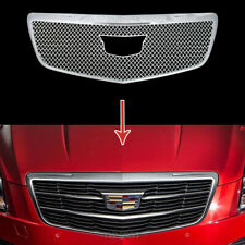 fit 2015-2019 Cadillac ATS CHROME Snap On Grille Overlay Front Grill Covers Trim