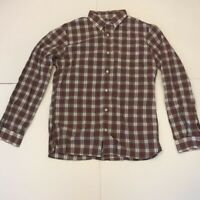 Brooks Brothers Red Fleece Mens Button Front Shirt Red Plaid Long Sleeves XL