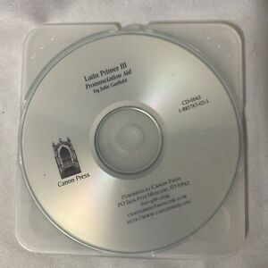 Latin Primer III Pronunciation Aid Audio CD Canon Press Julie Garfield