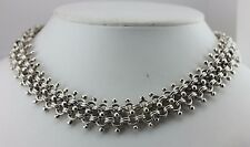 "925 STERLING SILVER 18"" DOUBLE ROW ROUND LINK MEXICO HEAVY CHAIN NECKLACE 153 G"