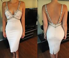 NEW AZZARO COUTURE ICONIC SEXY EMBELLISHED DRESS FR 36 US 4 ONE OF A KIND!!!