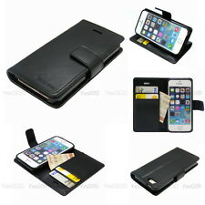 Slim Flip Diary Leather Wallet Case Cover w/Silicone Case For iPhone Galaxy LG