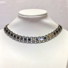 Vntg Sarah Coventry Necklace Designer Signed Classic Costume Choker Silver Tone