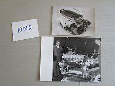N°10050 /  BMW M 1 :   2 photos du moteur 1978
