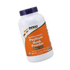 NOW Supplements, Psyllium Husk Powder, Certified Organic, Non-GMO Soluble Fiber