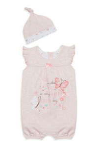 New Early Days Baby Girl Pink 2 Piece Romper - Free 1st Class Postage