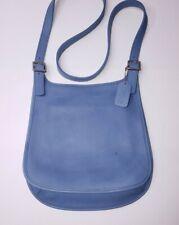 Coach 9135 Vintage Slim Flap Saddle Hippie Blue Leather Crossbody Shoulder Bag