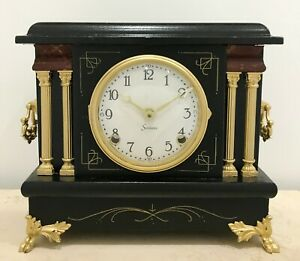 RESTORED to Battery Antique Sessions Mantel Clock #1539