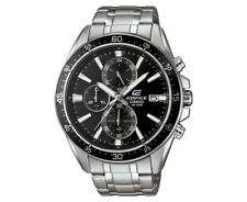 Casio Edifice Men's 54mm EFR546D-1A Stainless Steel Chronograph Watch - Black/Si