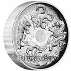 Tuvalu 2016 Ancient Chinese Mythical Creatures Dragon Tiger $1 Oz Silver Proof