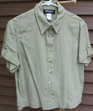 Woman's Green Shirt by Briggs; Size:  LP