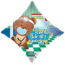 "Thanks For All You Do 18"" Bear Balloon Doctor Nurse Medical Mylar foil get well"