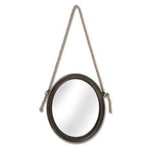Oval Mirror With Hanging Rope By Hill Interiors