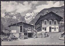 VALLE D'AOSTA COURMAYEUR 168 CASA DELLE GUIDE - MUSEO Cartolina viaggiata 1958