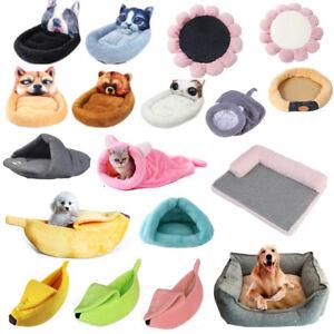 Pet Cat Bed Kitten Puppy Dog Beds Cave Soft House Sleeping Bag Mat Fleece M L