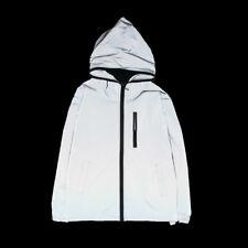 Men/Women Reflective Cycle Hooded Trench Jacket Travel Rain Coat Windbreaker USL