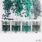 Dark Green 3D Nail Art Glitter Powder Dust Hexagon Manicure Decoration DIY Tips