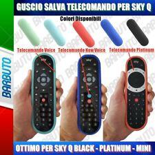GUSCIO SALVA TELECOMANDO IN SILICONE ATOSSICO PER SKY Q BLACK - PLATINUM - MINI