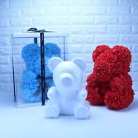 1Pc Foam Rose Bear Mold DIY Artificial Rose Flower Bear Plastic Bear Roses PY