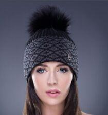 Neu Damen Luxus Mütze Hut Hat Bommelmütze Bommel Winter Wolle Schurwolle Sexy !!