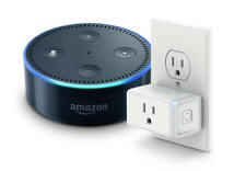 Amazon Echo Dot (2nd Generation) Black + TP-Link Smart plug Mini Smart Assistant