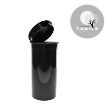 10 PCs 13D BLACK PHILIPS RX® Pop Top Containers Medical Herb Vial Child Proof
