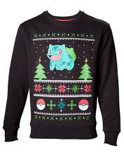 Pokémon Sweatshirt Bulbasaur Christmas Sweater Black L