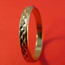 Womens 14Kt Gold Ep 3.5Mm Criss-Cross Laser Cut Wedding Ring (L2) - Size 9