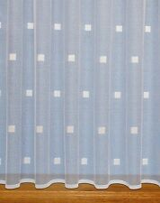 Squares Modern Net Curtain ~ Width Sold By The Metre ~ Lace Voile Curtain Fabric