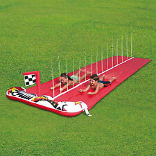 Bestway Double Slip & Slide Dash & Splash 4.8M Raceway Slide