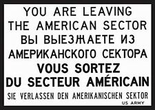 You Are Leaving US Sector steel fridge magnet   (na)