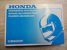 Honda CB 600 F Bedienungsanleitung mit Schaltplan Handbuch Motorrad Manuel