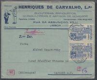 45580) Portugal LISBOA 1941 Brief mit Wehrmacht-Zensur nach Gablonz a. Neisse