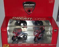 1/18 MAISTO DUCATI CORSE SET OF 2 MOTORCYCLES